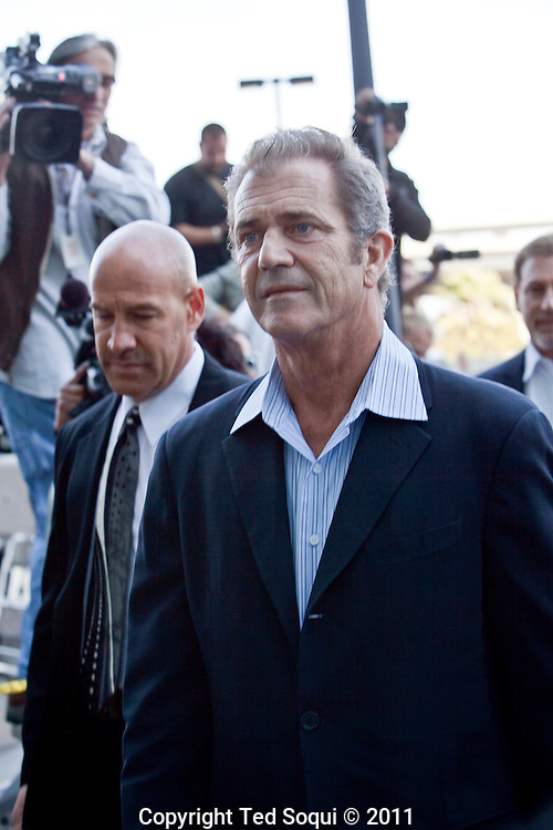 Mel Gibson made a court appearance at the LAX branch courthouse. He plead no contest to a misdemeanor.battery charge and has been sentenced to three years probation. He has also been ordered to complete a one-year domestic-violence counseling program, and pay a $400 dollar fine.