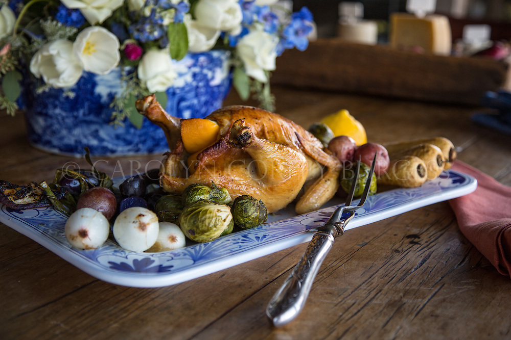 Roast Chicken for editorial shoot