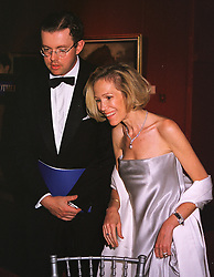 MR & MRS HANS RAUSING jnr he is the son of the richest man in Britain, at a dinner in London on 19th May 1999.MSF 67