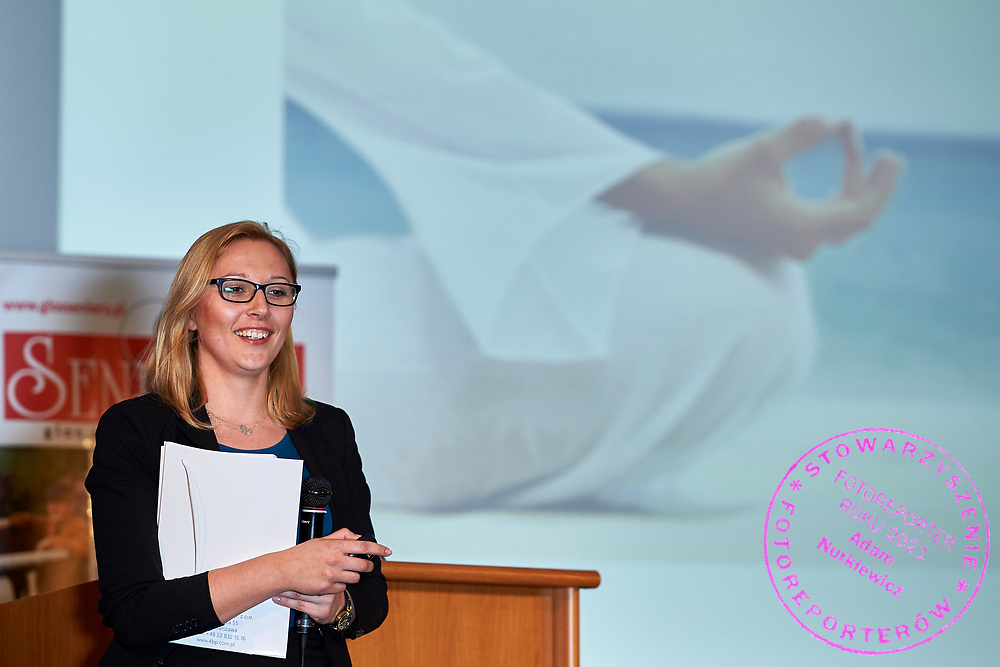 Warsaw, Poland - 2017 April 07: Dorota Wandas - Project Management Director at 4 Business & People sp. Z o.o.<br /> Representative of SKN Public Health Section of Health Promotion of Warsaw Medical University speaks while The Day of Health - science conference in the National Library on April 07, 2017 in Warsaw, Poland.<br /> <br /> Mandatory credit:<br /> Photo by © © Adam Nurkiewicz / Mediasport / Mediasport<br /> <br /> Picture also available in RAW (NEF) or TIFF format on special request.<br /> <br /> Any editorial, commercial or promotional use requires written permission from the author of image.<br /> <br /> Adam Nurkiewicz declares that he has no rights to the image of people at the photographs of his authorship.