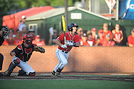 Mississippi's Braxton Lee (11) bats against Louisiana-Lafayette in an NCAA Super Regional game in Lafayette, La. on Saturday, June 7, 2014.    Louisiana-Lafayette won 9-5.