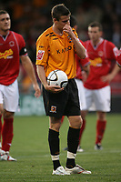 Photo: Rich Eaton.<br /> <br /> Crewe Alexandra v Hull City. Carling Cup. 15/08/2007. Hull's Michael Bridges prepares for the penalty but fails to score from the spot in the first half but scores from the rebound