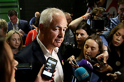 Chair of the Institute of Obstetricians and Gynaecologists Dr Peter Boylan arrives at the count centre in Dublin's RDS as votes are counted in the referendum on the 8th Amendment of the Irish Constitution which prohibits abortions unless a mother's life is in danger. Picture date: Saturday May 26, 2018. See PA story IRISH Abortion. Photo credit should read: Brian Lawless/PA Wire