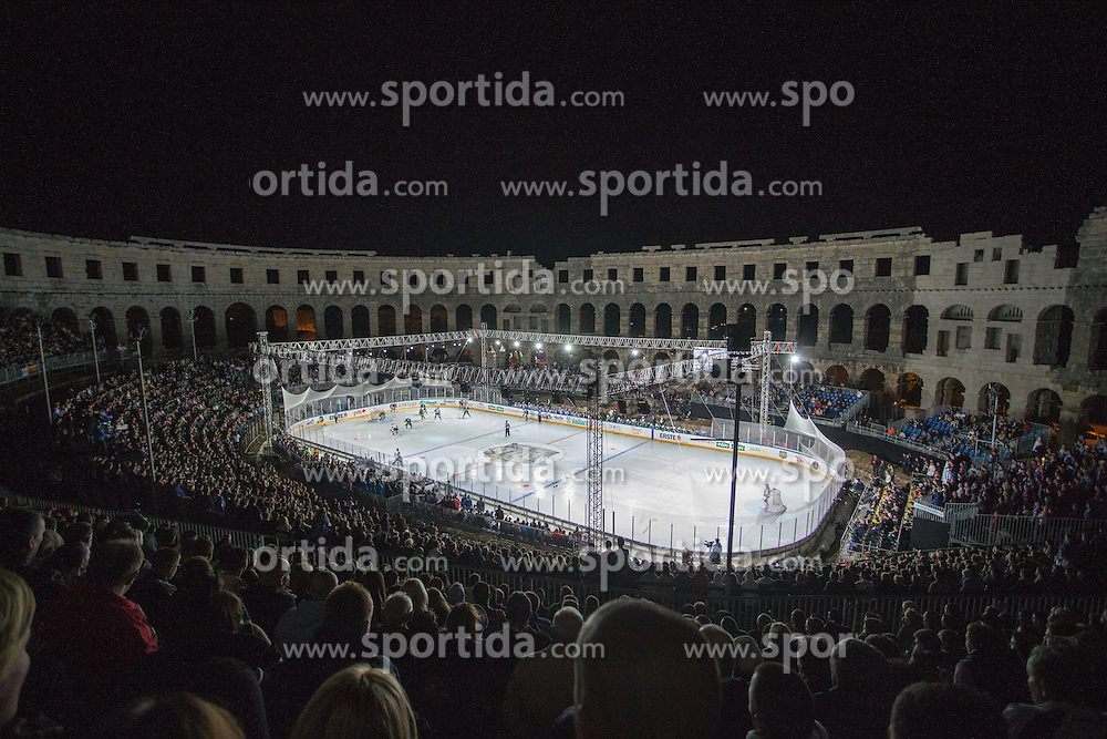 14.09.2012. Pula Arena, Pula, CRO, EBEL, KHL Medvescak Zagreb vs HDD Telemach Olimpija Ljubljana, 03. Runde, in picture View on the arena during the Erste Bank Icehockey League 3rd Round match between KHL Medvescak Zagreb and HDD Telemach Olimpija Ljubljana at the Pula Arena, Pula, Croatia on 2012/09/14. (Photo By Matic Klansek Velej / Sportida)