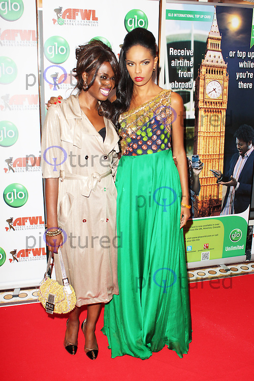 June Sarpong & Noella Musunka Coursaris , African Fashion & Arts Banquet  - Closing Event for Africa Fashion Week, The Dorchester Hotel, London UK, 04 August 2013, (Photo by Brett D. Cove)