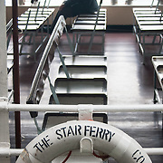 Star Ferry transporting passengers from Hong Kong Island to Kowloon.