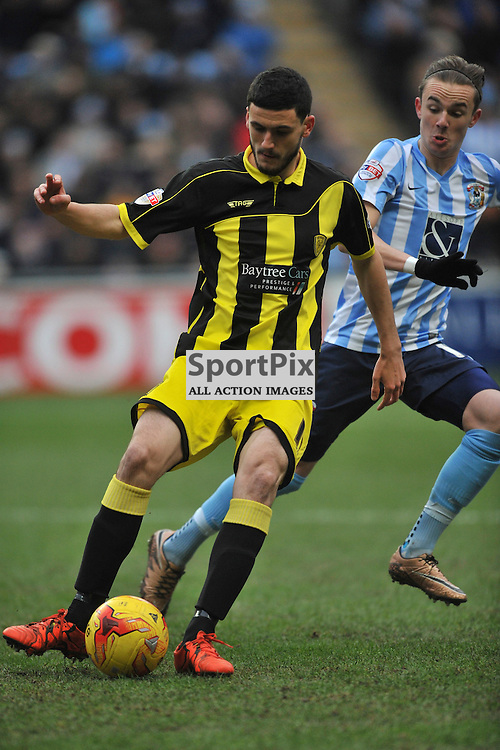 ANTHONY O'CONNOR  BURTON ALBION, Coventry City v Burton Albion, Ricoh Arena,  Sky Bet League 1, Saturday 16th JJanuary 2016, (Mike Capps/Sportpix)