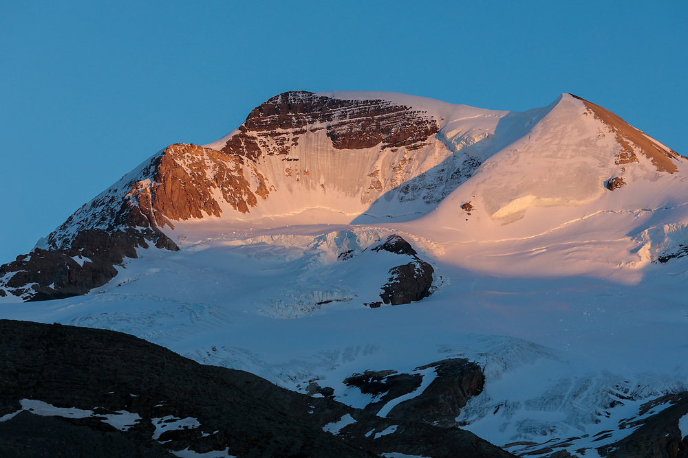 The North Face and Silverhorn of Mt Athabasca in Alberta Canada