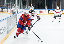 Martin Roymark of Norway and Denis Malgin of Switzerland during the 2017 IIHF Men's World Championship group B Ice hockey match between National Teams of Norway and Switzerland, on May 7, 2017 in Accorhotels Arena in Paris, France. Photo by Vid Ponikvar / Sportida
