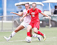 FIU Women's Soccer wears special pink shirts and play to a 1-1 draw during a match on Sunday October 23, 2011. The lady Panthers played the Rajin Cajuns at FIU Soccer Field.
