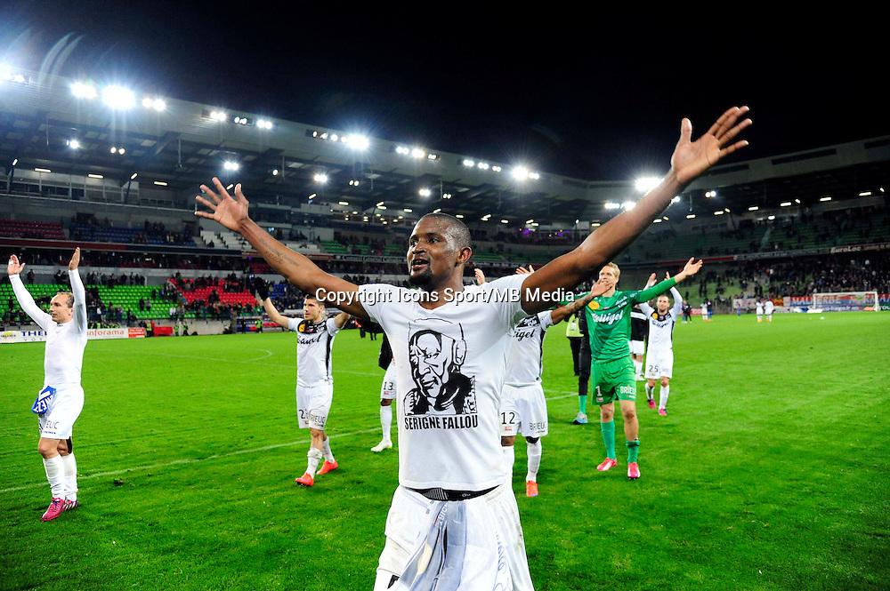 Joie Elhadji Moustapha DIALLO - 25.04.2015 - Caen / Guingamp - 34eme journee de Ligue 1<br /> Photo : David Winter / Icon Sport