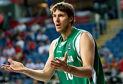 Bostjan Nachbar of Slovenia during the fifth-place basketball match between National teams of Slovenia and Spain at 2010 FIBA World Championships on September 10, 2010 at the Sinan Erdem Dome in Istanbul, Turkey.   (Photo By Vid Ponikvar / Sportida.com)