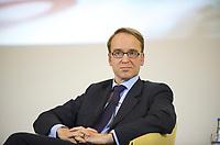 DEU, Deutschland, Germany, Berlin, 14.12.2011: <br />Der Präsident der Deutschen Bundesbank, Jens Weidmann, bei einer Podiumsdiskussion im Bundesfinanzministerium zum 10. Jahrestag der Euro-Bargeldeinführung.