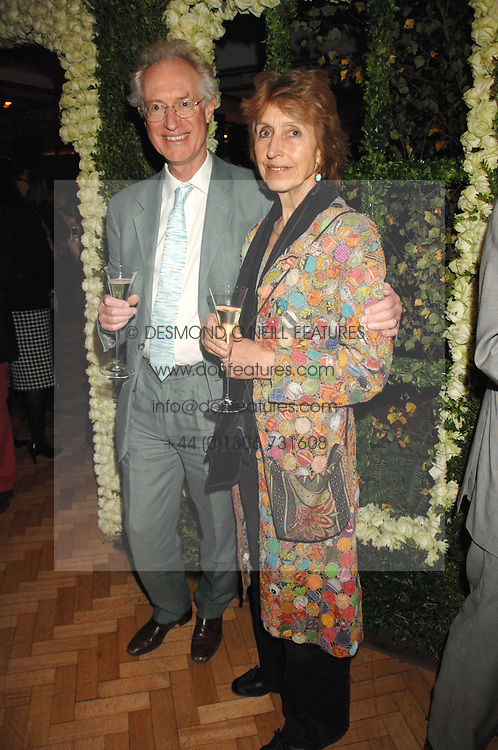 Broacaster BAMBER GASCOIGNE and his wife CHRISTINA at a party to celebrate the 60th anniversary of House &amp; Garden magazine held at Bonhams, 101 New Bond Street, London on 4th October 2007.<br />