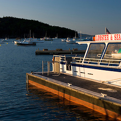 Fishing boats in Frenchman Bay Bar Harbor Maine USA