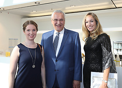 "13.07.2019, BMW Welt, Muenchen, GER, Bayerischer Sportpreis Verleihung, im Bild ""Jetzt erst Recht"" Preis für Clara Klug, zusammen mit Staatsminister Joachim Herrmann und Christine Theiss // during the Bavarian Sports Award at the BMW Welt in Muenchen, Germany on 2019/07/13. EXPA Pictures © 2019, PhotoCredit: EXPA/ SM<br /> <br /> *****ATTENTION - OUT of GER*****"