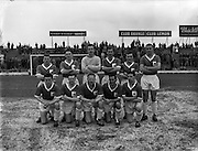 22/02/1961 <br /> 02/22/1961<br /> 22 February 1961<br /> Soccer, F.A.I. Cup 1st round replay: Limerick v Shamrock Rovers at Glenmalure Park, Milltown. The Limerick team.