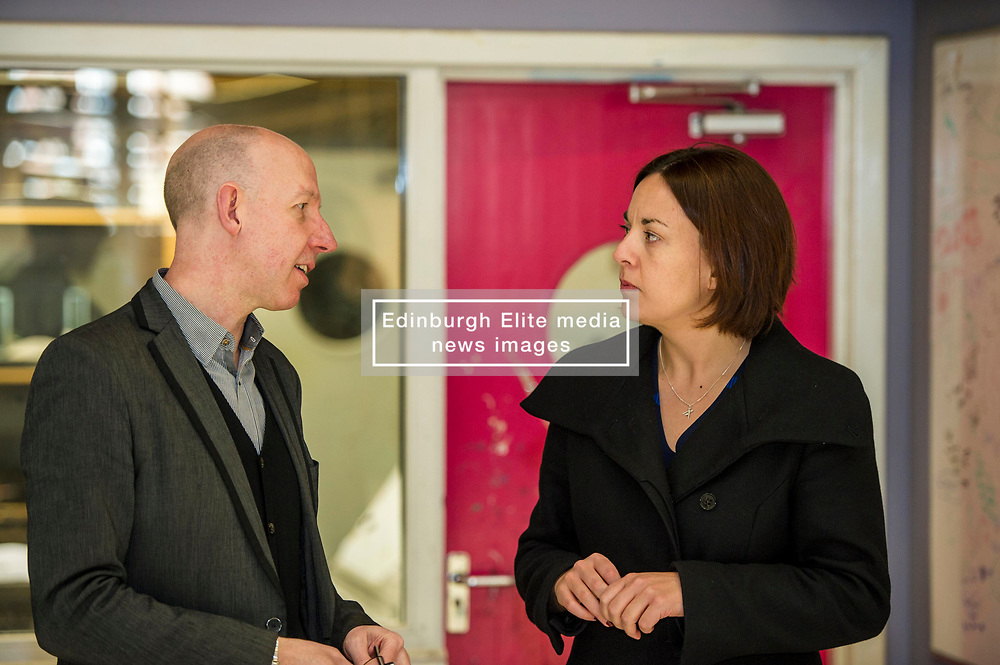 Pictured: Alex McGowan, Executive Director of the Lyecum and Kezia Dugdale<br /> Scottish Labour leader Kezia Dugdale, MSP,  and Tom Watson, MP deputy leader of the Labour Party, visited Edinburgh's Royal Lyceum Theatre today.<br /> <br /> Ger Harley   EEm 27 March 2017