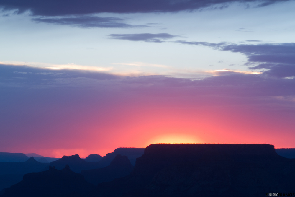 On our last day at the Grand Canyon's South Rim, we watched the sunset at Lipan Point.  Lipan Point is definitely worth of a stop to see a sunset.  Lipan Point is 7,360 feet/2,243 meters above sea level.