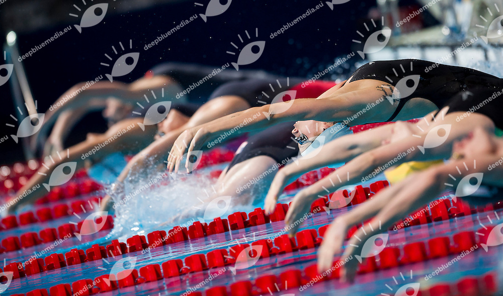 Belinda Hocking CAN silver medal<br /> Women's 200m backstroke final<br /> 15th FINA World Aquatics Championships<br /> Palau Sant Jordi, Barcelona (Spain) 03/08/2013 <br /> &copy; Giorgio Perottino / Deepbluemedia.eu / Insidefoto