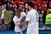 DESCRIZIONE : Final Eight Coppa Italia 2015 Finale Olimpia EA7 Emporio Armani Milano - Dinamo Banco di Sardegna Sassari<br /> GIOCATORE : Jerome Dyson Brian Sacchetti<br /> CATEGORIA : esultanza post game post game<br /> SQUADRA : Banco di Sardegna Sassari<br /> EVENTO : Final Eight Coppa Italia 2015<br /> GARA : Olimpia EA7 Emporio Armani Milano - Dinamo Banco di Sardegna Sassari<br /> DATA : 22/02/2015<br /> SPORT : Pallacanestro <br /> AUTORE : Agenzia Ciamillo-Castoria/Max.Ceretti