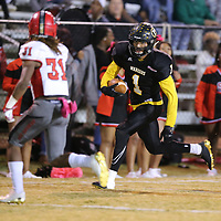 Pontotoc reciever Austin Morphis helped set up the Warriors on a first and goal let in the second quarter but a series of penalites pushed them back and out of field goal range.