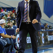 Delaware 87ers Head Coach Kevin Young seen walking the sideline in the first half of a NBA D-league regular season basketball game between the Delaware 87ers (76ers) and the Sioux Falls Skyforce (Miami Heat) Tuesday, Dec. 2, 2014 at The Bob Carpenter Sports Convocation Center in Newark, DEL