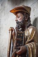 Pilgrim Statue of St. James, Iglesia de Santiago, Puete la Reina Spain