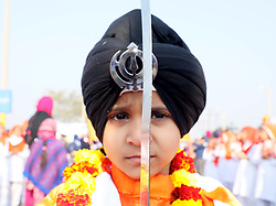 "January 1, 2018 - Jammu, Jammu and Kashmir, India - Sikhs organised a colorful ""nagar kirtan"" (religious procession) in the city ahead of Guru Gobind Singh's birth anniversary today..The most important and major festival of the community, Prakash Utsav (birth anniversary) of Guru Gobind Singh, the 10th Sikh Guru and founder of the Khalsa Panth is celebrated. (Credit Image: © Shilpa Thakur/Pacific Press via ZUMA Wire)"