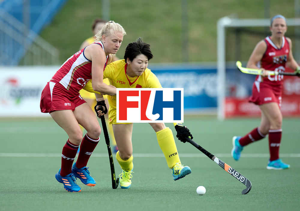 AUCKLAND - Sentinel Hockey World League final women<br /> Match id: 10309<br /> 19 USA v CHN (Losing Q/Finalists Match)<br /> Foto: Jill Witmer and Bingfeng Gu <br /> WORLDSPORTPICS COPYRIGHT FRANK UIJLENBROEK