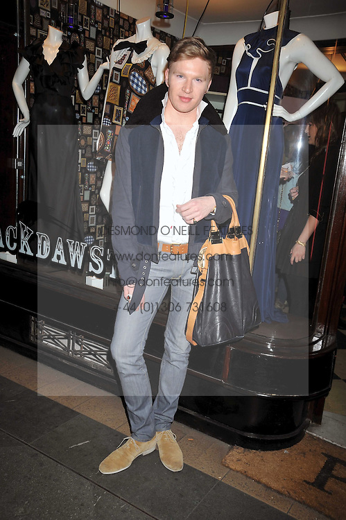 HENRY CONWAY at a party to celebrate the opening of the PPQ Jackdaw Store at 6 Burlington Arcade, London on 8th April 2009.