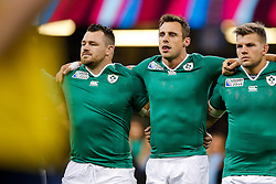 during the national anthems - Mandatory byline: Rogan Thomson/JMP - 07966 386802 - 18/10/2015 - RUGBY UNION - Millennium Stadium - Cardiff, Wales - Ireland v Argentina - Rugby World Cup 2015 Quarter Finals.