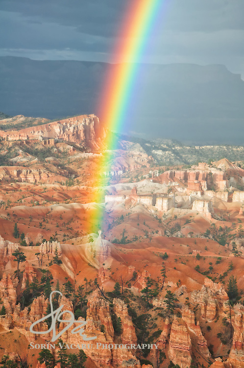Rainbows over Bryce Canyon National Park