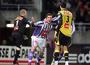 Xavier Pentecôte celebrates scoring during the 1/4 Final of la Coupe de France, Stade Municipal, Toulouse, France, 18th March 2009.