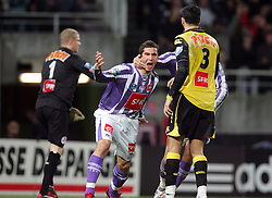 Xavier Pentecôte celebrates scoring during the 1/4 Final of la Coupe de France, Stade Municipal, Toulouse, France, 18th March 2009.
