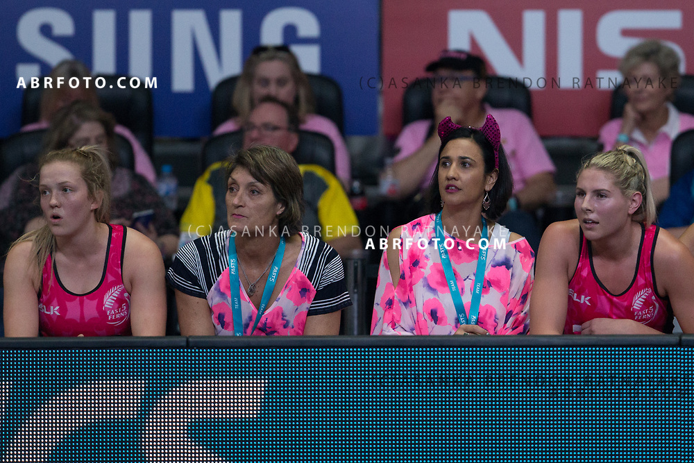 NZ coaching staff during the Fast5 Netball 3rd Vs 4th match between New Zealand Silver Ferns and Australia at Hisense Arena Melbourne Australia. Sunday 29th October 2017. Copyright Photo. Brendon Ratnayake / www.photosport.nz