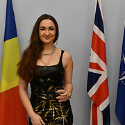 Countessina Anna Lutskova De Bacci is a Political Commentator attend the upcoming Romanian designers Gabriela Rose exhibition at The Romanian Cultural Institute in London on 21 Feb 2019, London, UK.