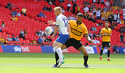 David Perkins of Tranmere Rovers and Joss Labadie of Newport County - Mandatory by-line: Paul Terry/JMP - 25/05/2019 - FOOTBALL - Wembley Stadium - London, England - Newport County v Tranmere Rovers - Sky Bet League Two Play-off Final