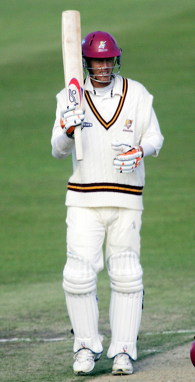 Northern District's Peter Yovich acknowledges his half century during the State Championship Cricket Final between Northern Districts and Canterbury at Seddon Park, Hamilton, New Zealand on Saturday 24 March 2007. Photo: Hagen Hopkins/PHOTOSPORT<br /><br /><br /><br />240307