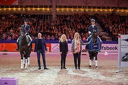 Veeze Bart, NED, Imposantos, Scholtens Emmelie, NED, Indian Rock<br /> KWPN Stallionshow - 's Hertogenbosch 2018<br /> © Hippo Foto - Dirk Caremans<br /> 02/02/2018