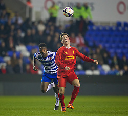 READING, ENGLAND - Wednesday, March 12, 2014: Liverpool's Harry Wilson in action against Reading during the FA Youth Cup Quarter-Final match at the Madejski Stadium. (Pic by David Rawcliffe/Propaganda)
