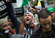 JUL 11 2014 Demonstration in London against Israeli strikes in Gaza