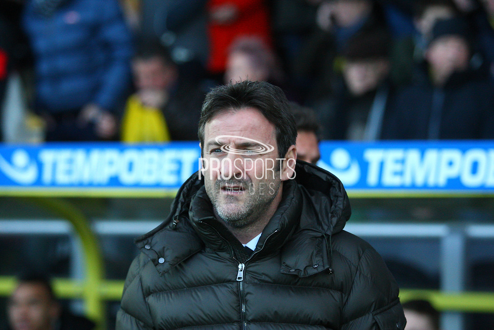 Leeds Manager Thomas Christiansen during the EFL Sky Bet Championship match between Burton Albion and Leeds United at the Pirelli Stadium, Burton upon Trent, England on 26 December 2017. Photo by John Potts.