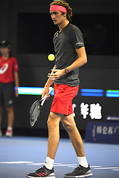 October 10, 2018 - Beijing, Beijing, China - Beijing,CHINA-Professional tennis player Malek Jaziri defeats Alexander Zverev 2-1 at 2018 China Open in Beijing, China. (Credit Image: © SIPA Asia via ZUMA Wire)