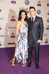 """Katie Melua with husband James Toseland, German """"Echo"""" music award in Messegelaende, Berlin, Germany, 21, March 2013. Photo by Elliott Franks / i-Images..."""