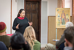14 March 2019, Haifa, Israel: Ecumenical Accompaniers from the World Council of Churches' Ecumenical Accompaniment Programme in Israel and Palestine gather for mid-term orientation, listening to Ruth Hiller talking on the theme of (de)militarization of Israeli society.