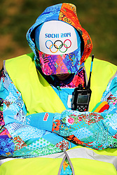 The XXII Winter Olympic Games 2014 in Sotchi, Olympics, Olympische Winterspiele Sotschi 2014<br /> Olympic Park, Olympischer Park, Logo, <br /> Volonteers, Hilfskraefte, service,