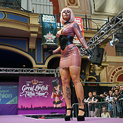 London, UK. 27 May 2017. ,Latex & Apparel fashion show prefroms at The Great British Tattoo Show at Alexandra Palace, London,UK