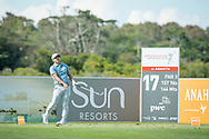 Kurt Kitayama (USA) on the 17th tee during the 3rd round of the AfrAsia Bank Mauritius Open, Four Seasons Golf Club Mauritius at Anahita, Beau Champ, Mauritius. 01/12/2018<br /> Picture: Golffile | Mark Sampson<br /> <br /> <br /> All photo usage must carry mandatory copyright credit (© Golffile | Mark Sampson)