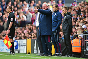 Aston Villa manager Steve Bruce calls the shots during the EFL Sky Bet Championship match between Fulham and Aston Villa at Craven Cottage, London, England on 17 April 2017. Photo by Jon Bromley.